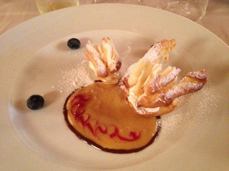 Dessert im Hotel Fanes
