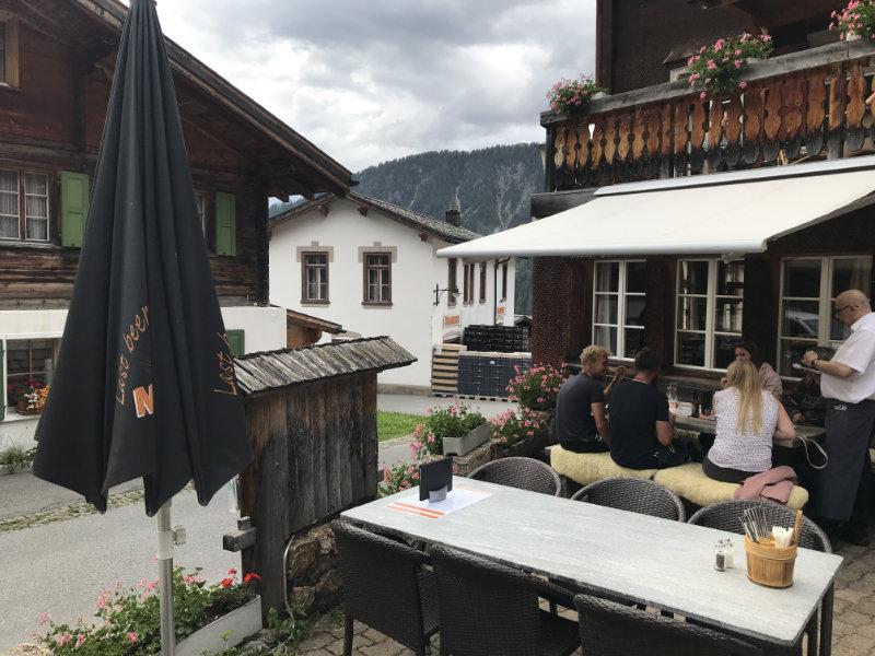 Lunch in Monstein