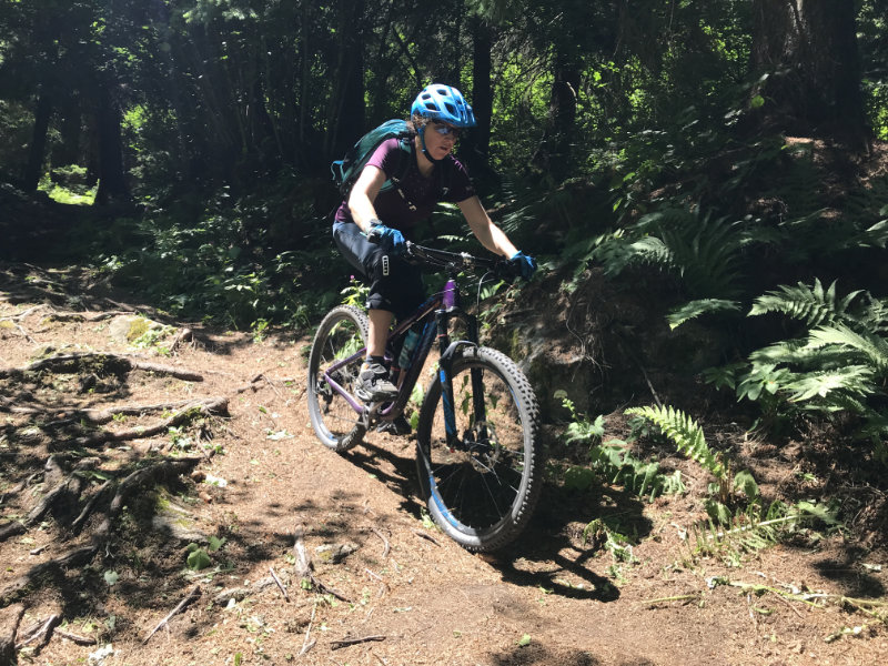 GravityBienchen on da Folgàrida Trail
