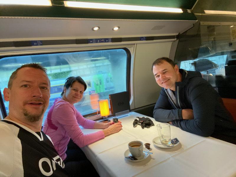 In da train