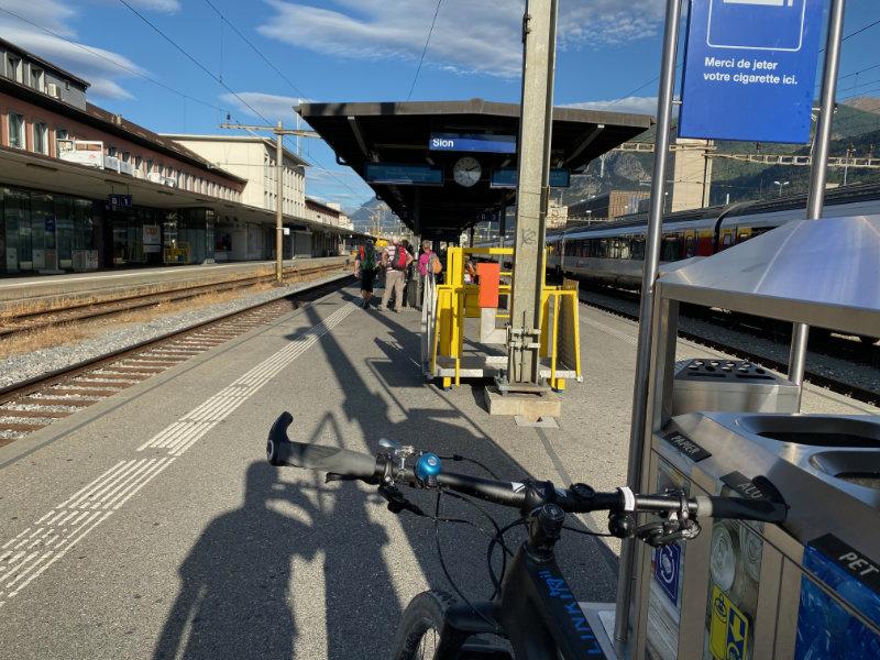 Waiting at da train station