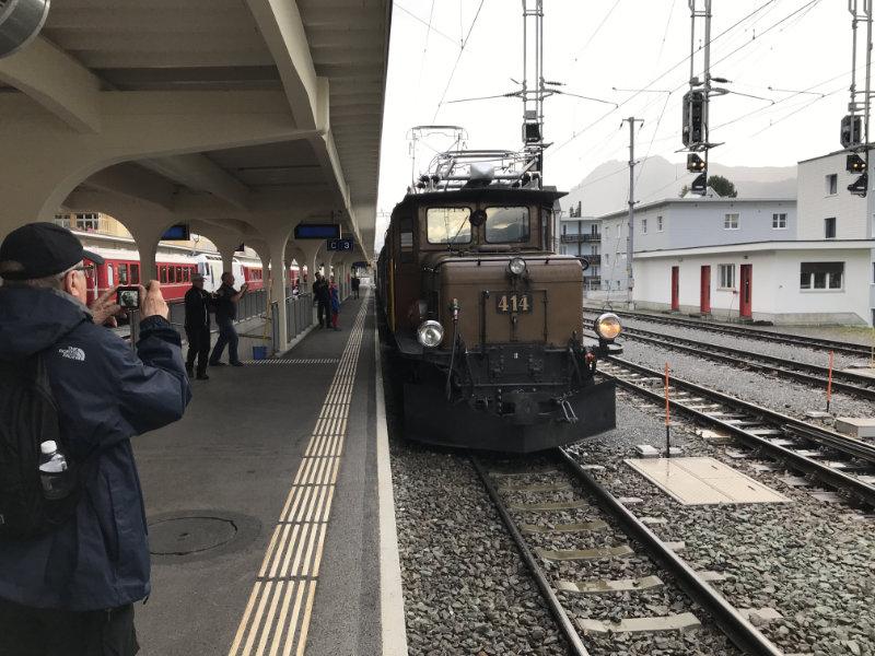 RhB Nostalgie-Zug aussen